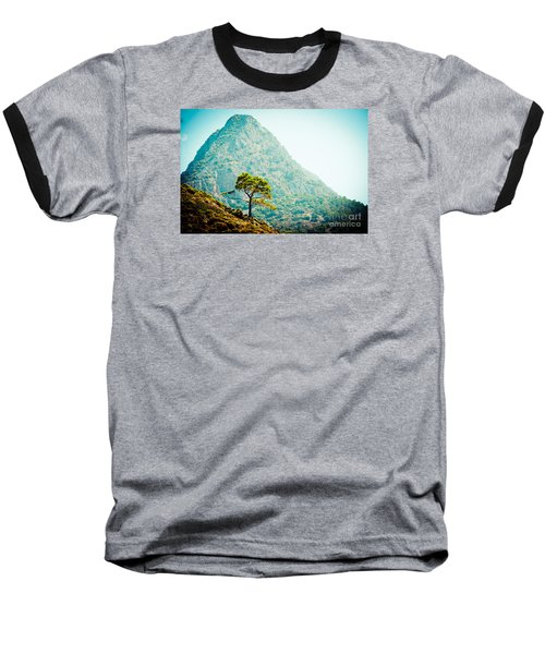 Mountain With Pine Artmif.lv Baseball T-Shirt