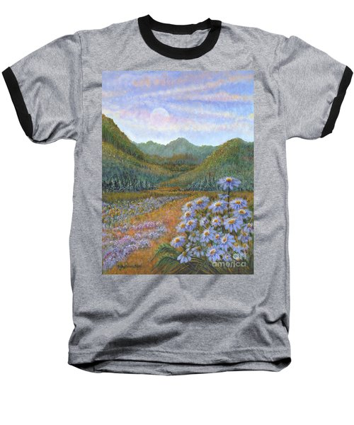 Mountains And Asters Baseball T-Shirt