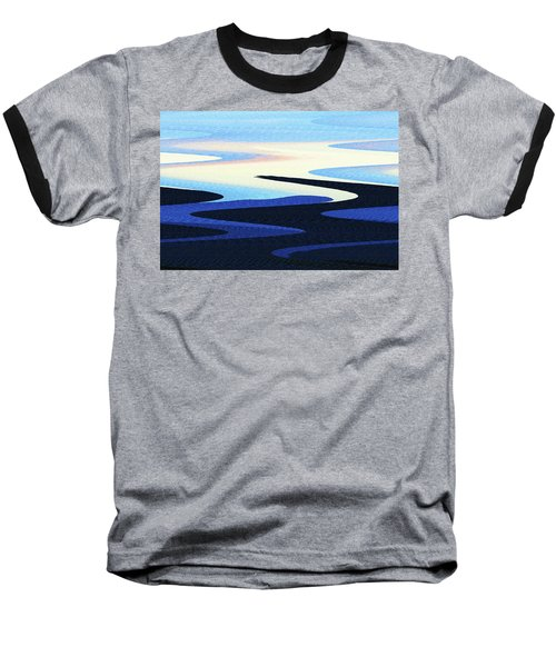 Mountains And Sky Abstract Baseball T-Shirt by Tom Janca
