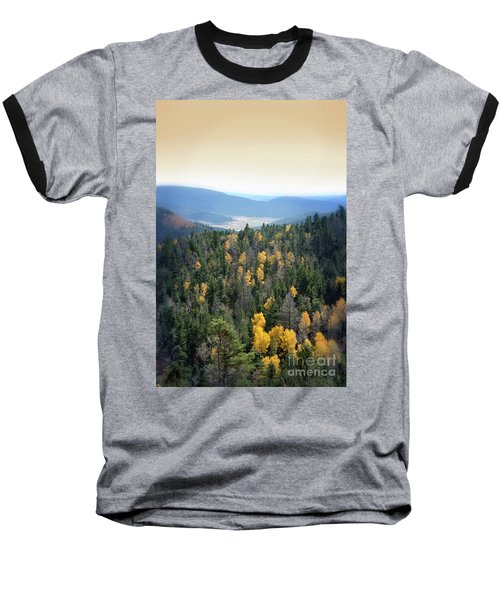 Mountains And Valley Baseball T-Shirt by Jill Battaglia