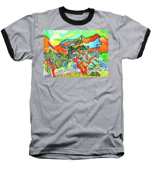 Mountains At Collioure Baseball T-Shirt