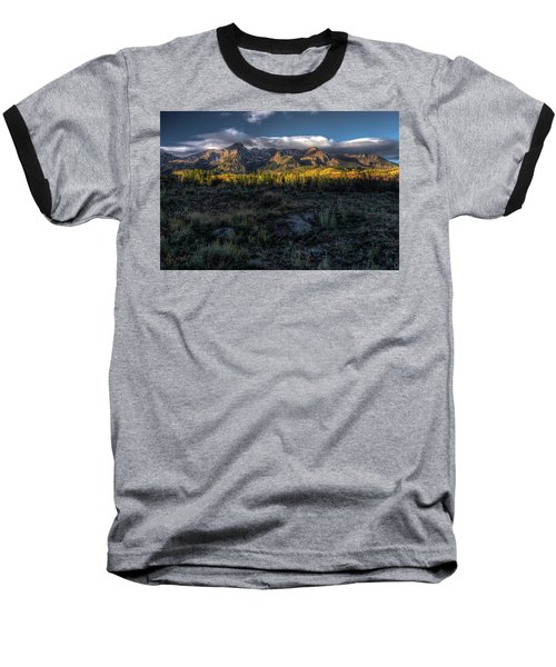 Mountains At Sunrise - 0381 Baseball T-Shirt