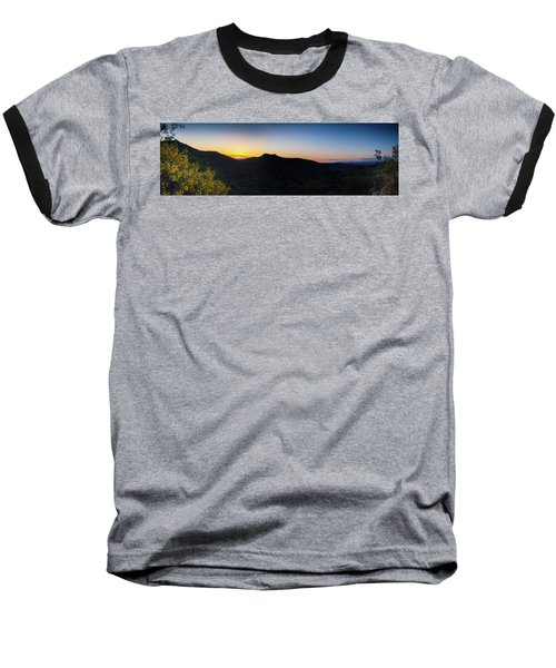 Baseball T-Shirt featuring the photograph Mountains At Sunset by Ed Cilley