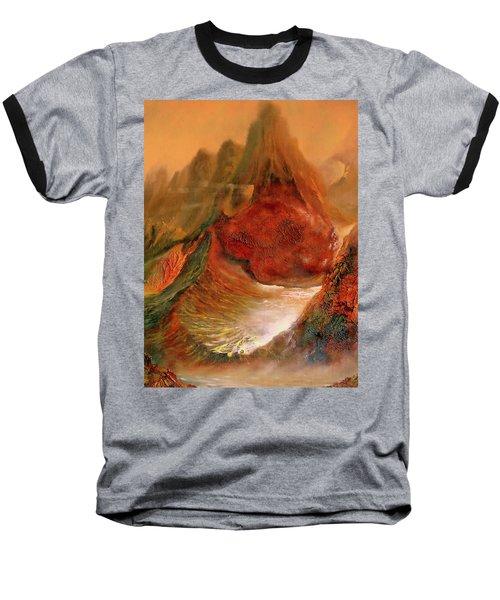 Mountains Fire Baseball T-Shirt
