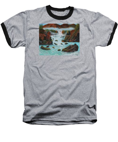 Baseball T-Shirt featuring the painting Mountains High by Myrna Walsh