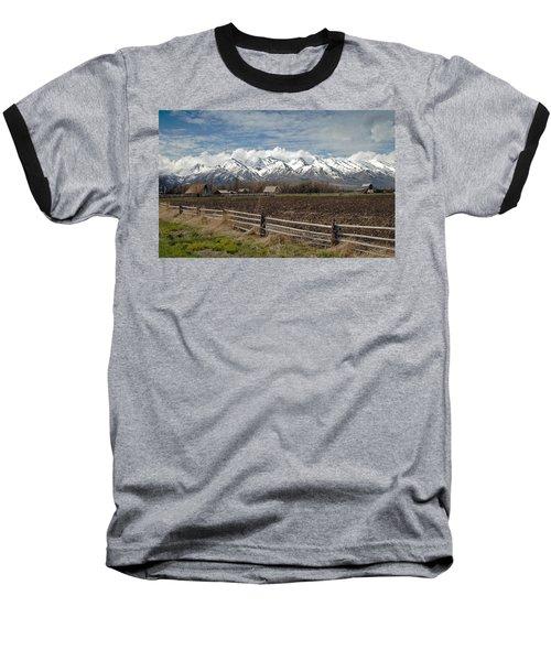Mountains In Logan Utah Baseball T-Shirt