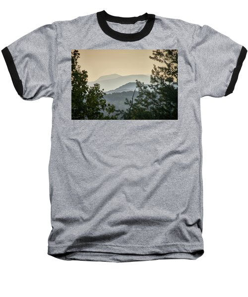 Mountains In The Distance Baseball T-Shirt