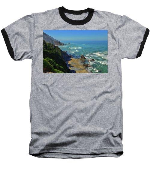 Mountains Meet The Sea Baseball T-Shirt