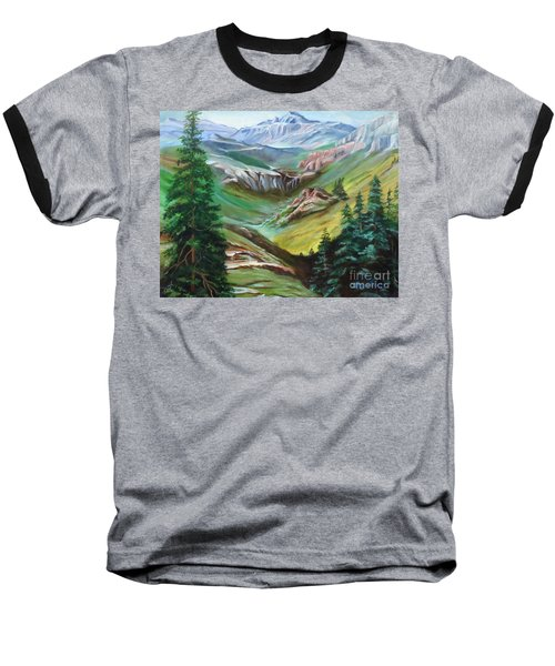 Mountains Of Color Baseball T-Shirt