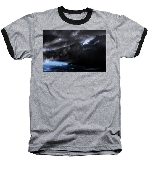 Mountains Of The Blue Ridge Baseball T-Shirt by Gray  Artus