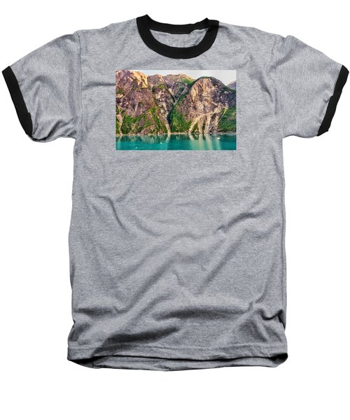 Mountains Of The Fjord Baseball T-Shirt by Lewis Mann