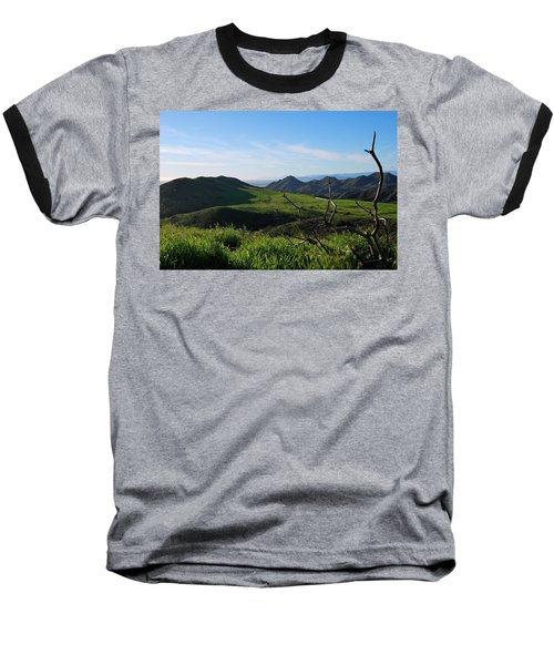 Baseball T-Shirt featuring the photograph Mountains To Valley View by Matt Harang