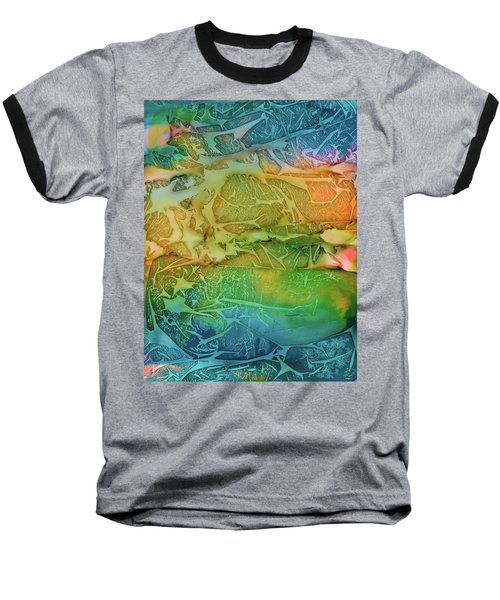 Mountains, Trees, Icy Seas Baseball T-Shirt