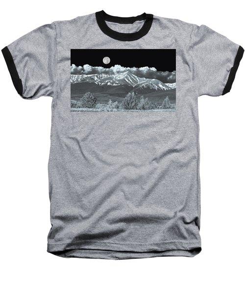 Mountains, When High Enough And Tough Enough, Measure Men.  Baseball T-Shirt