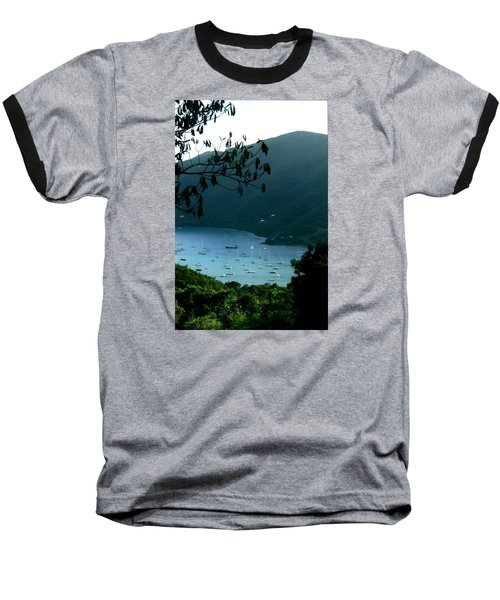 Mountainside Coral Bay Baseball T-Shirt by Robert Nickologianis