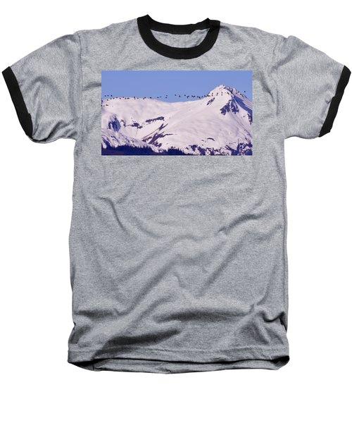 Mountaintop Geese II Baseball T-Shirt