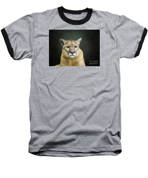 Mountian Lion Baseball T-Shirt by Suzanne Handel