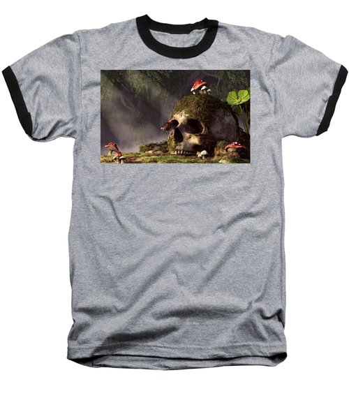 Mouse In A Skull Baseball T-Shirt