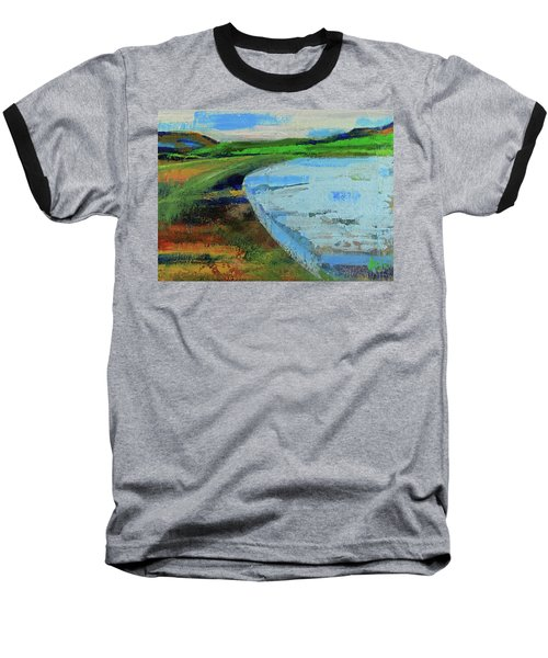 Baseball T-Shirt featuring the painting Mouth Of The Creek by Walter Fahmy