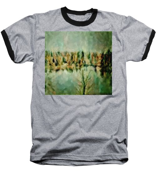 Movie A Chance In The World Placid Lake Frozen In The Winter Fall Ice Bitter Cold Uninviting Cool Pa Baseball T-Shirt by MendyZ