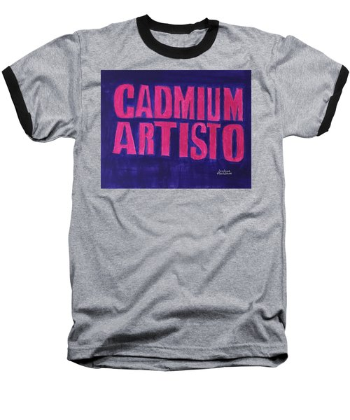 Movie Logo Cadmium Artisto Baseball T-Shirt by Joshua Maddison