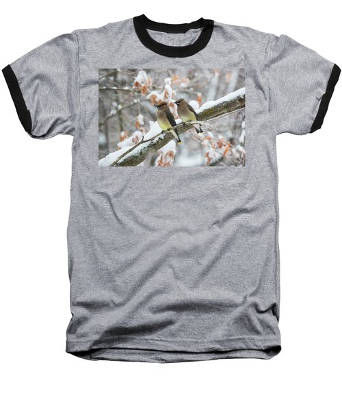 Mr. And Mrs. Cedar Wax Wing Baseball T-Shirt
