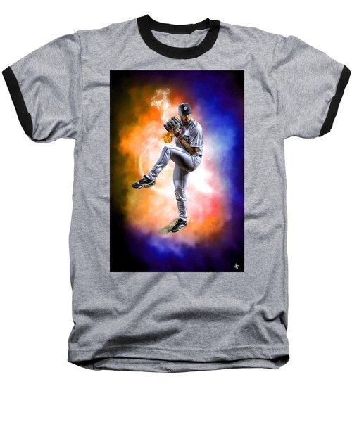 Mr. Justin Verlander Baseball T-Shirt by Nicholas  Grunas