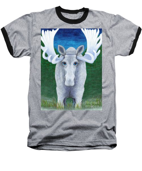Mr. Moose Baseball T-Shirt by Rebecca Parker
