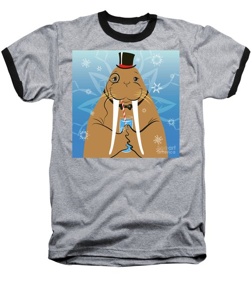 Mr. Walrus Baseball T-Shirt
