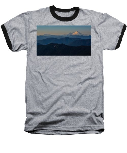 Mt. Baker From Mt. Pilchuck Baseball T-Shirt