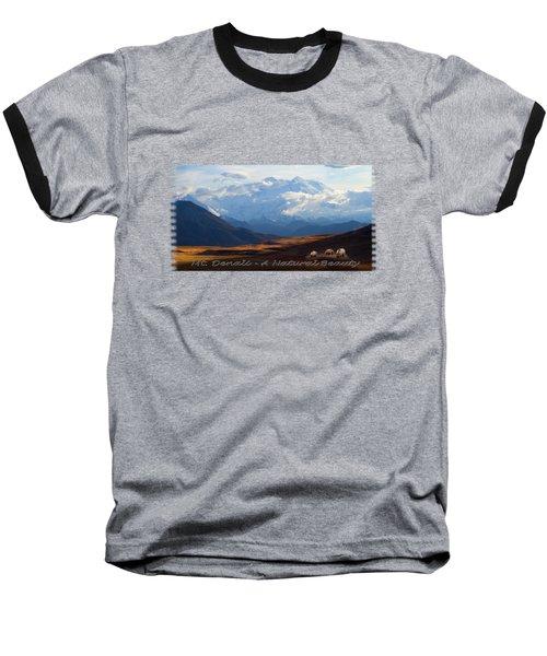 Mt. Denali National Park Baseball T-Shirt by Ann Lauwers