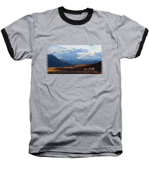 Mt. Denali National Park Baseball T-Shirt
