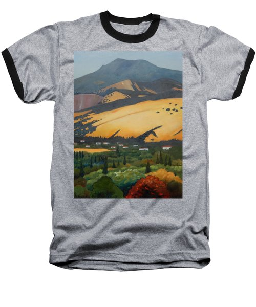 Baseball T-Shirt featuring the painting Mt. Diablo Above by Gary Coleman