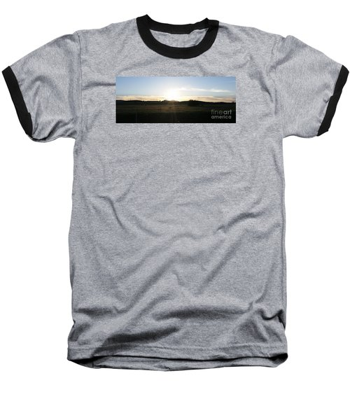 Mt. Diablo Sunset Baseball T-Shirt