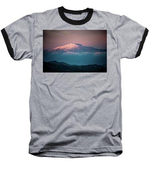Mt. Etna II Baseball T-Shirt by Patrick Boening
