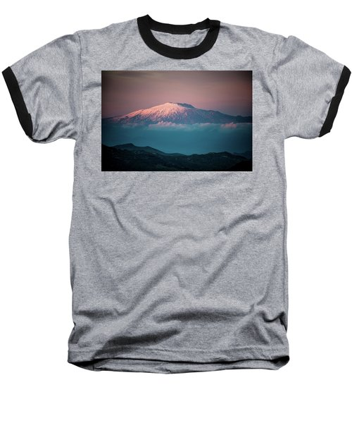 Mt. Etna II Baseball T-Shirt