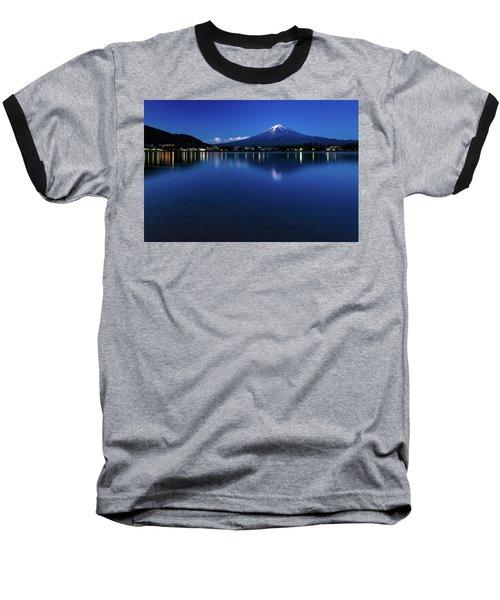 Mt Fuji - Blue Hour Baseball T-Shirt