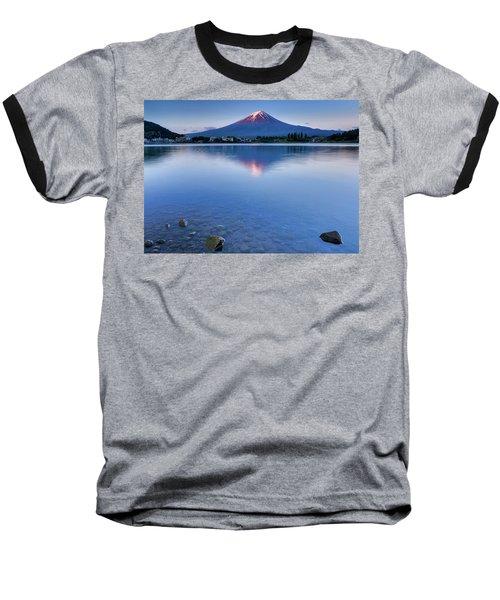 Mt Fuji - First Light Baseball T-Shirt