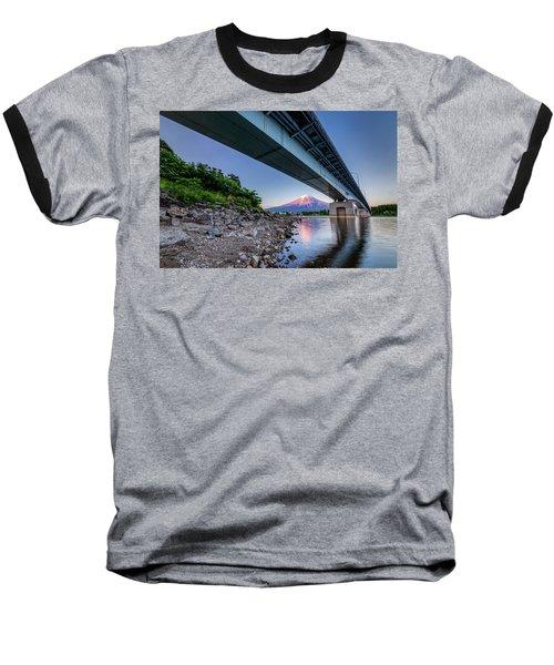 Mt Fuji - Under The Bridge Baseball T-Shirt