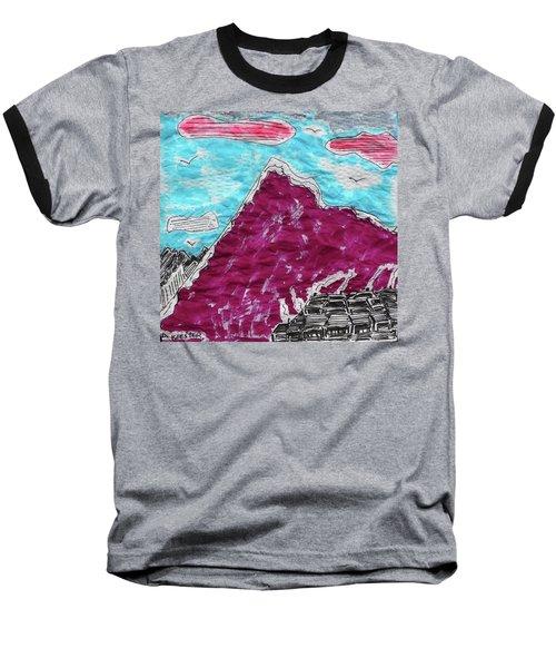 Mt. Fuji Village  Baseball T-Shirt by Don Koester