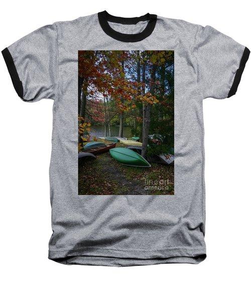 Mt. Gretna Canoes In Fall Baseball T-Shirt