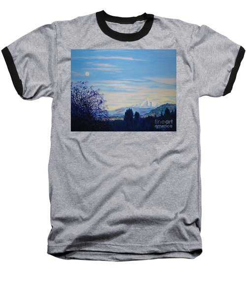 Mt Hood A View From Gresham Baseball T-Shirt by Lisa Rose Musselwhite