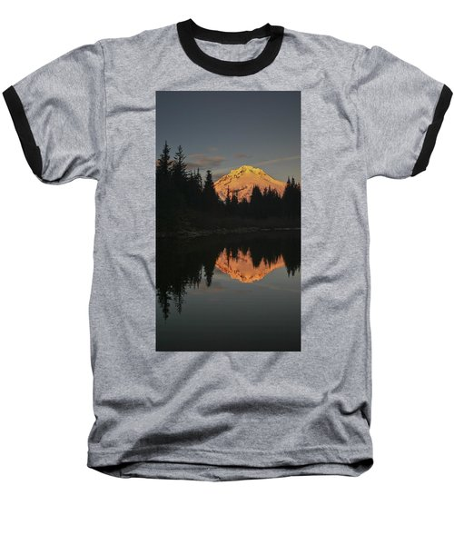 Mt Hood Alpenglow II Baseball T-Shirt
