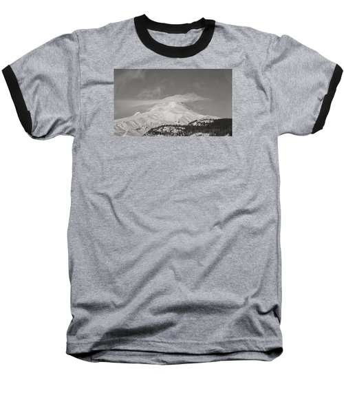 Mt Hood From White River Baseball T-Shirt