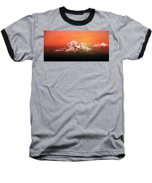 Nature Baseball T-Shirt featuring the photograph Mt Hood Oregon Sunset by Aaron Berg