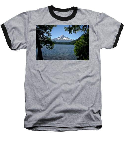 Mt Hood Over Lost Lake Baseball T-Shirt