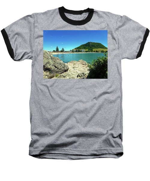 Mt Maunganui Beach 13 - Tauranga New Zealand Baseball T-Shirt by Selena Boron