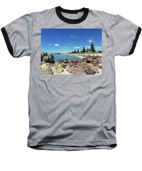 Mt Maunganui Beach 3 - Tauranga New Zealand Baseball T-Shirt by Selena Boron