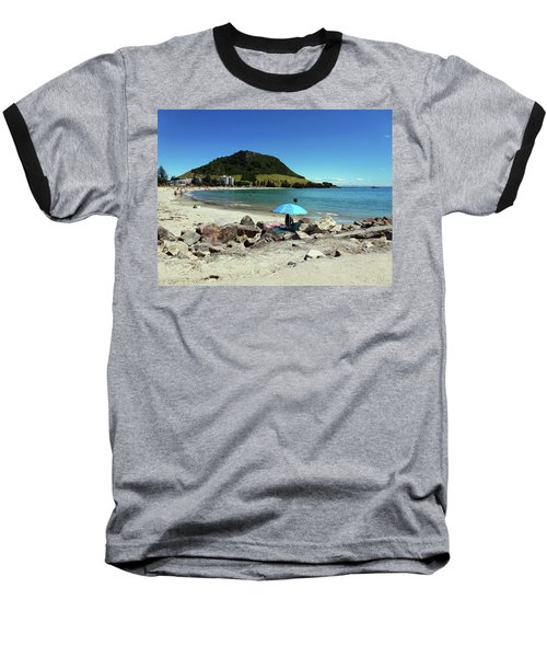 Mt Maunganui Beach 5 - Tauranga New Zealand Baseball T-Shirt by Selena Boron
