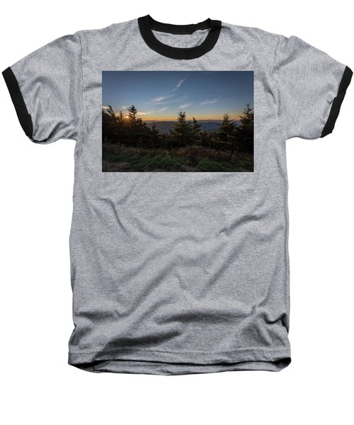 Baseball T-Shirt featuring the photograph Mt Mitchell Sunset North Carolina 2016 by Terry DeLuco